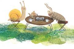 Schnecke und Assel spielen Schach