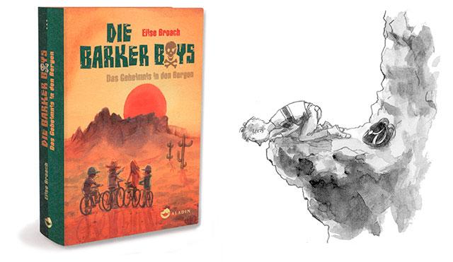 Die Barker Boys, Cover und Innenillustrationen, Aladin Verlag 2013