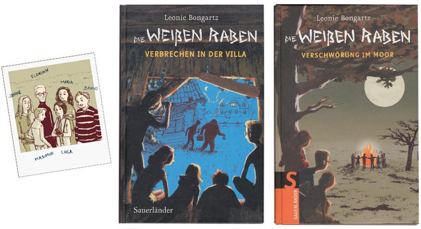 Die Weißen Raben, Kinderkrimireihe von Leonie Bongartz, Sauerländer 2008, 2009